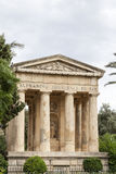 Temple in Barakka Gardens in capital of Malta - Valletta Stock Image