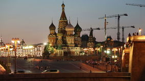 Temple of Basil the Blessed,  Moscow, Russia stock footage