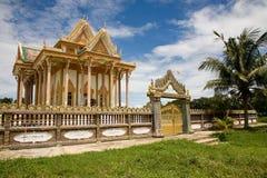Temple, Battambang, Cambodge Images libres de droits