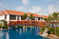 Temple Bay Resort in India Stock Photography