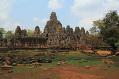 Temple Bayon in Cambodia Royalty Free Stock Photo