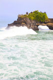Temple by the Beach, Bali, Indonesia. Image of a temple by the beach at Tanah Lot, Bali, Indonesia Stock Photo