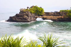 Temple by the Beach, Bali, Indonesia Royalty Free Stock Images