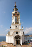Temple beacon. Temple-Beacon on the Black Sea, Crimea Ukraine Stock Photos
