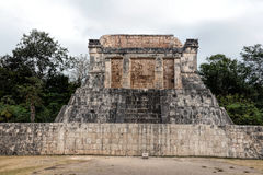 The Temple of the Bearded Man in Chichen Itza Stock Image