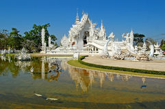 Temple beautiful the best in the world. Architecture in chiangrai Thailand stock images