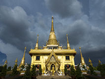 Temple. Beautiful temple gold in Thailand Royalty Free Stock Images