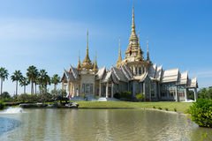 The  temple. A beautiful temple in Thailand near the pond Royalty Free Stock Images