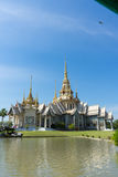 The  temple. A beautiful temple in Thailand near the pond Stock Images