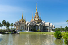The  temple. A beautiful temple in Thailand near the pond Royalty Free Stock Photography
