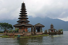 Temple Bedugul. Bedugul temple on lake Batur in Bali Royalty Free Stock Images