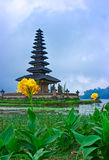 Temple Behind The Flowers Royalty Free Stock Images