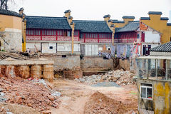 Temple being rebuilt in China Stock Image