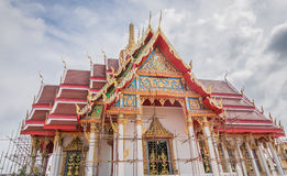 The temple is being renovated. Royalty Free Stock Image