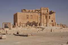 Temple of Bel. Built in honour of a Semitic god, the Temple of Bel is Palmyra's main temple.It is located in the south eastern corner of the city, where a Stock Photography