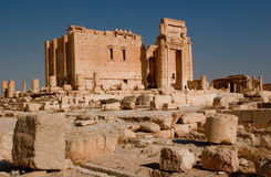Temple of Bel in Palmyra. Temple of Bel in the ancient Palmyra complex in Syria stock photography