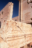 Temple of Bel at Palmyra in Syria. Detail of collapsed wall at the Temple of Bel at Palmyra in Syria. Palmyra was occupied by the Romans in the second and third royalty free stock photos