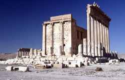 Temple of Bel, Palmyra Syria. The Temple of Bel is located in the UNESCO World Heritage site of Palmyra. The temple was contructed in the second century AD. The royalty free stock images
