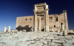 Temple of Bel, Palmyra Syria. The Temple of Bel is located in the UNESCO World Heritage site of Palmyra. The temple was contructed in the second century AD. The royalty free stock photography
