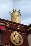 Temple bell at Jokhang temple in Tibet Stock Images