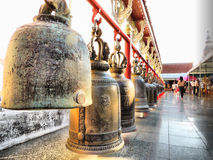 Temple bell. For sound signals Royalty Free Stock Images