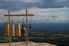 Temple bell. The bell at the temple . Who want to be lucky will be knock it royalty free stock images