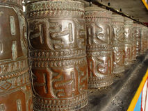 Temple Bells. The traditional wooden bells at the Swayambhunath temple in Kathmandu, Nepal Royalty Free Stock Images