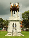 Temple Bells. The bell tower is located at Wat Benchamabophit in Bangkok Stock Photos