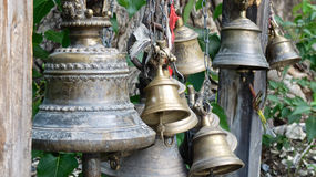 Temple bells in the Himalayas Stock Images