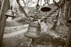 Temple bells in muktinath, annapurna Stock Images