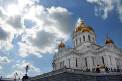 Temple from below-upwards. Moscow, Russia Stock Images