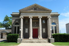 Temple Beth El Helena, Arkansas. Temple Beth El was one of the first members of the Union of American Hebrew Congregations. Its history reflects the struggles a Royalty Free Stock Image