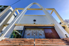 Temple Beth Shalom - Havana, Cuba. Temple Beth Shalom, built in 1952, is a synagogue located in the Vedado neighborhood of downtown Havana, Cuba Stock Image