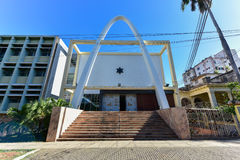 Temple Beth Shalom - Havana, Cuba. Temple Beth Shalom, built in 1952, is a synagogue located in the Vedado neighborhood of downtown Havana, Cuba Stock Photos