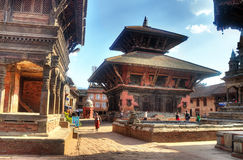 Temple at Bhaktapur Durbar Square Royalty Free Stock Photo