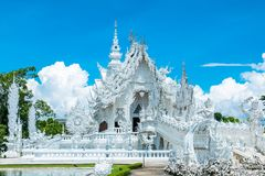 Temple blanc de Chiang Mai Photo stock