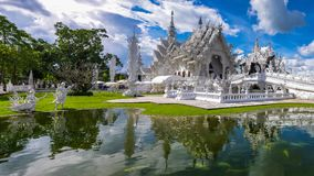 Temple blanc de la Thaïlande, Wat Rong Khun Photos stock