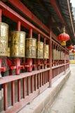 Temple blanc de roche dans Sichuan, porcelaine Photos stock