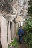Temple blanc de roche dans Sichuan, porcelaine Photos libres de droits