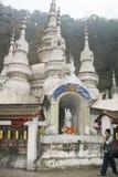 Temple blanc de roche dans Sichuan, porcelaine Photographie stock libre de droits
