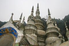 Temple blanc de roche dans Sichuan, porcelaine Photographie stock