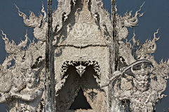 Temple blanc en Chiang Rai, Thaïlande Photo libre de droits