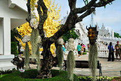 Temple blanc Wat Rong Khun Images stock