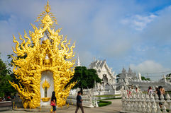 Temple blanc Wat Rong Khun Photographie stock