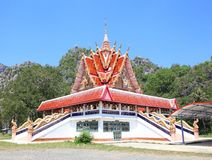 A temple with the blue sky Stock Photo