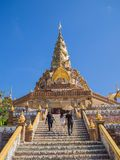Temple in blue sky, Thailand Royalty Free Stock Image