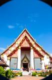 Temple. Blue sky at Wiharn Phra Mongkhon Bopit Temple, Ayutthaya, Thailand Royalty Free Stock Photos