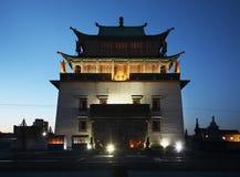 Temple of Boddhisattva Avalokiteshvara. Gandantegchinlen Monastery in Ulaanbaatar. Mongolia.  Stock Photo