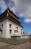 Temple of Boddhisattva Avalokiteshvara. Gandantegchinlen Monastery in Ulaanbaatar. Mongolia.  Stock Photos
