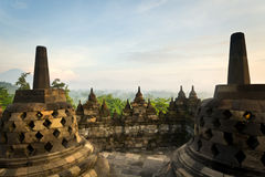 The temple of Borobudur in Indonesia. Royalty Free Stock Images